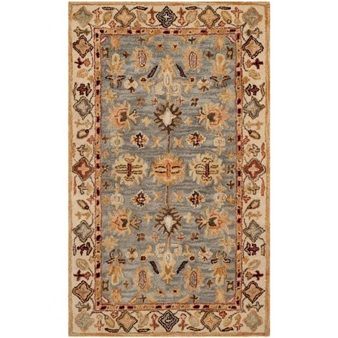 safavieh antiquity blue ivory 3 ft x 5 ft area rug