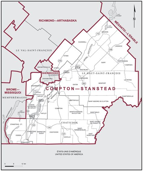 map of compton california compton stanstead maps corner elections canada