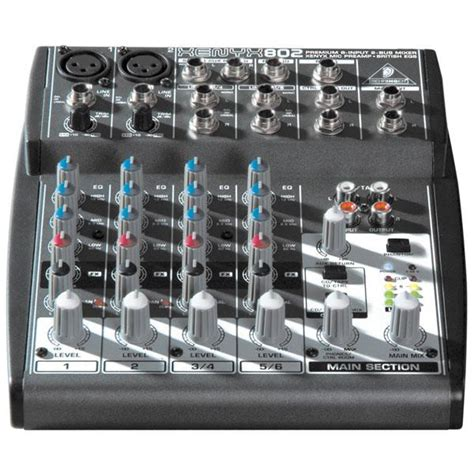 Mixer Audio Behringer Xenyx 802 behringer xenyx 802 8 channel mixer samash