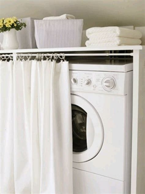 curtains to hide washer and dryer a curtain for your washer and dryer lol organization made easy pi