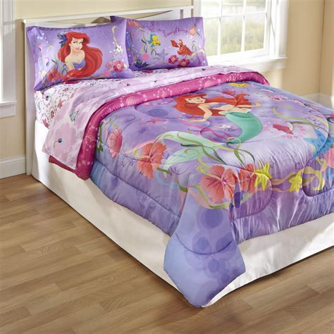 mermaid bedding twin disney mermaid twin full comforter home bed bath