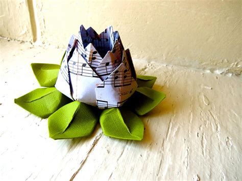 music decorations for home paper lotus music sheet and green wedding decor wedding