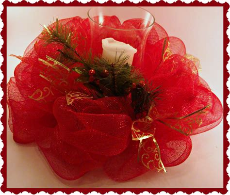 Decorations With Deco Mesh by Crafty In Crosby Deco Mesh Centerpiece