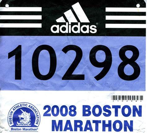 running number template boston marathon 2008 chris s triathlon and