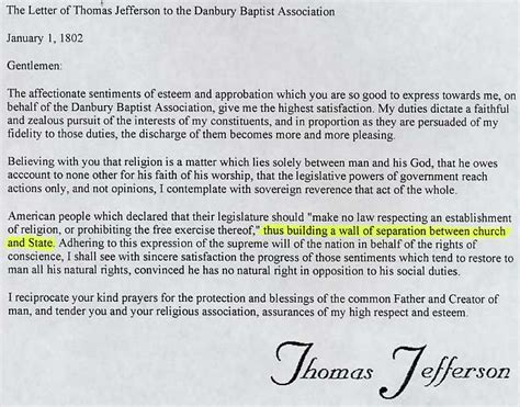 Beautiful Separation Of Church And State Amendment #4: Letter-to-Danbury-B.jpg