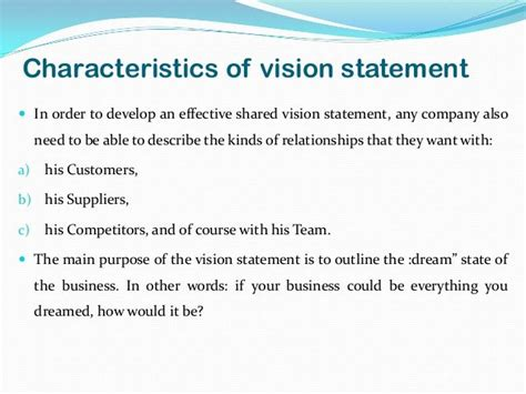 vision statement template free vision statement exles for business yahoo image