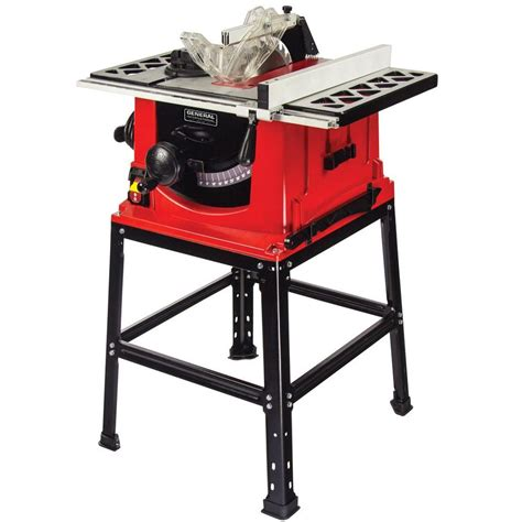 general international 13 10 in table saw with stand