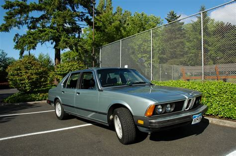 1980s bmw parked cars 1980 bmw 733i