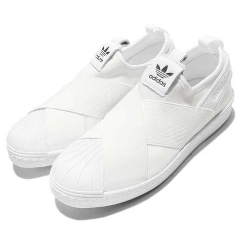 adidas originals superstar slip on w white womens shoes s81338 ebay