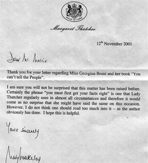 you can t tell the margaret thatcher and ufo