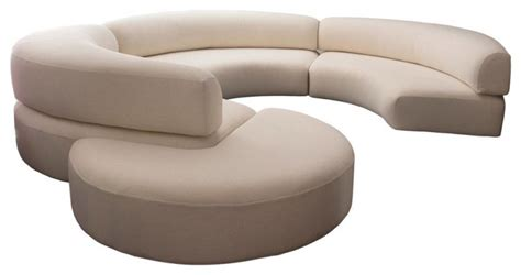 white curved sofa curved sectionals sofas foter thesofa