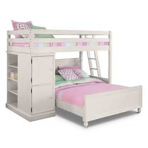 Value City Dining Room Furniture colorworks loft bed with full bed white american