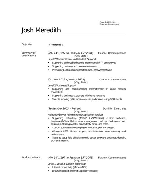 help desk technician resume professional help desk technician resume template