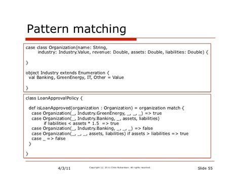 scala pattern matching multiple parameters in pursuit of expressivity groovy and scala compared