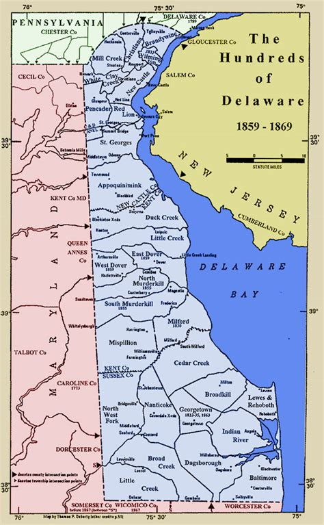 detailed map of delaware delaware map maps