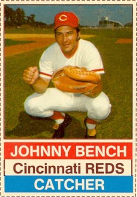 johnny bench baseball card value 1976 hostess johnny bench 22 baseball card value price guide