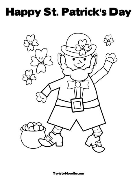 happy st patrick s day coloring pages part ii