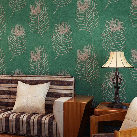 wallpaper for room walls in pune wall paper pune peacock feathers exotic southeast thicker