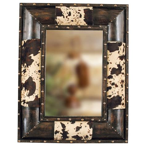 Cowhide Home Decor Western Decor Cowhide Western Mirror Decorating Ideas