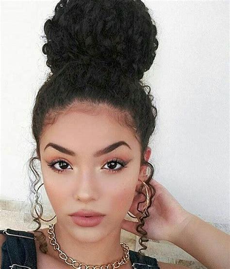 pics of black women pretty big hair buns with added hair best 25 messy curly bun ideas on pinterest curly bun