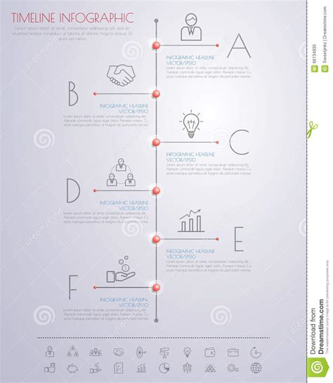 color step design clean number timeline template graphic