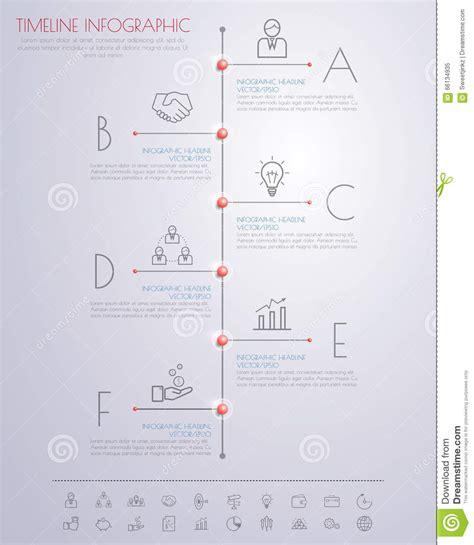 color step design clean number timeline template graphic