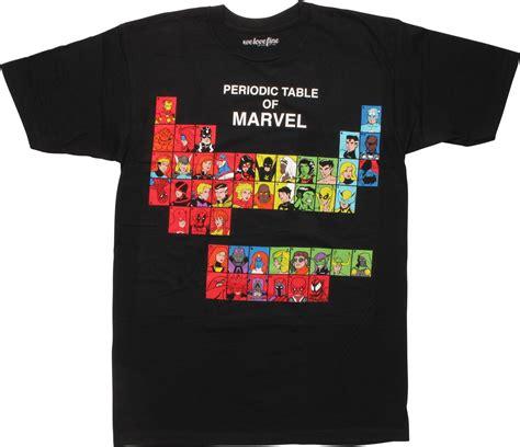 periodic table shirt marvel comics periodic table t shirt