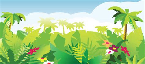 illustrator jungle tutorial vector freebies tropical forest background design chair