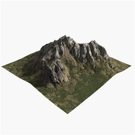 mountain models 3d obj rocky mountain
