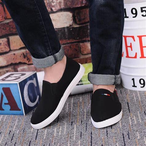 Sepatu Kicker Slip On Cowok sepatu slip on pria size 44 black jakartanotebook