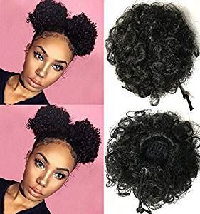 bijoux afro puff small drawstring bun amazon com beauty forever fashion curly ponytail twins