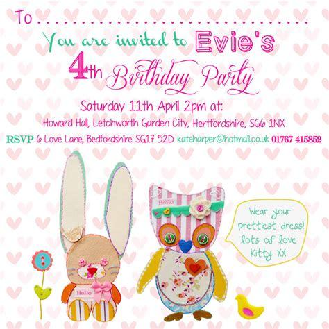 little girl printable birthday invitations little girl birthday party invitations by buttongirl