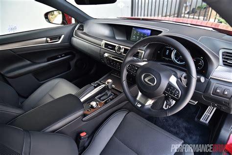 lexus gs350 f sport interior 2016 lexus gs 200t f sport review video performancedrive