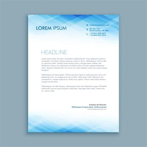 Business Letter Format Using Letterhead abstract business letterhead template vector free