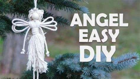 easy diy angel christmas craft ideas  macrame school