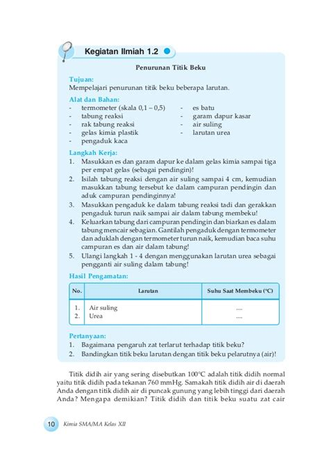 Termometer Larutan bab 1 sifat koligatif larutan