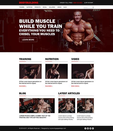 bodybuilding template bodybuilding html website template to create your website
