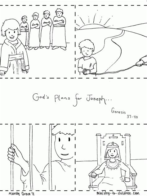 coloring sheets for joseph joseph in prison coloring pages coloring home
