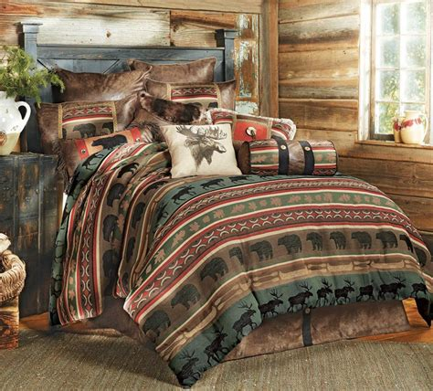 Log Cabin Bed Sets Rustic Bedding Sets Lodge Log Cabin Bedding