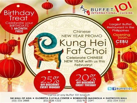new year hotel promo buffet 101 new year promo 25 every monday