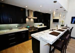 Popular Backsplashes For Kitchens popular kitchen backsplash ideas with dark cabinet of kitchen