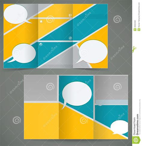 layout design in vector vector green brochure layout design with yellow el stock