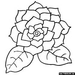 big flower free coloring pages on art coloring pages