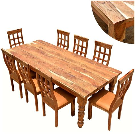 Solid Wood Farmhouse Dining Table Rustic Furniture Farmhouse Solid Wood Dining Table Chair Set