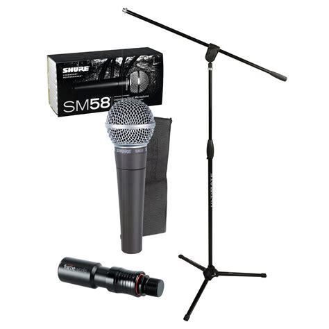 Stand Microphone Vocal shure sm58 vocal mic with pro stand attachment package