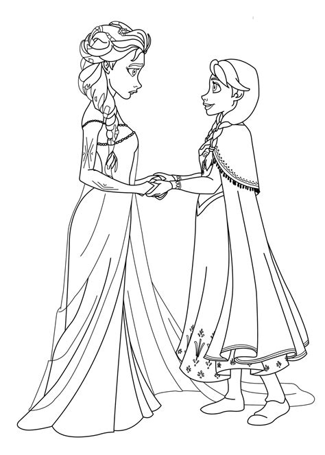La reine des neiges anna elsa princesses   Coloriage La