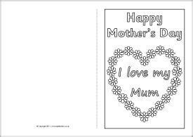 free printable mothers day card templates mother s day card colouring templates sb4359