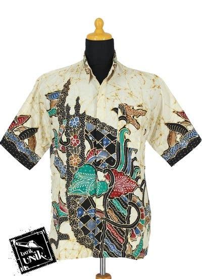 Kemeja Etnik Pria Lengan Panjang Motif Buto Murah Ukuran M Xl baju batik kemeja katun cap motif batik etnik warna ii batik pria exclusive murah batikunik