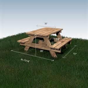 table 224 pique nique woodself le site des plans de