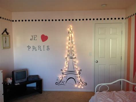 home decor paris theme lit eiffel tower for my daughter s paris themed room